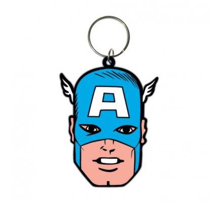 Porte-clés Face 6cm Captain America