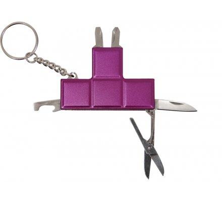 Porte-clés Mauve 5 en 1 Tetris