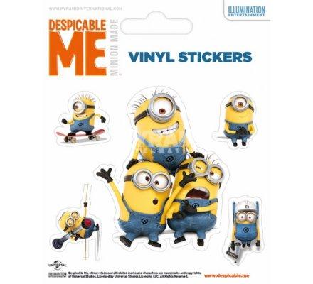 Pack de 5 Stickers Minion Stuart et ses Amis Moi Moche et Mechant