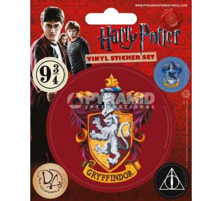 Pack de 5 Stickers Gryffondor Harry Potter
