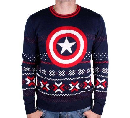 Pull de Noël Captain America