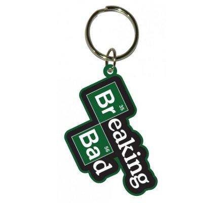 Porte-clés caoutchouc Br Ba vert et noir Breaking Bad