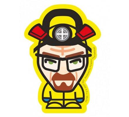 Sticker vinyle Heisenberg jaune Breaking Bad
