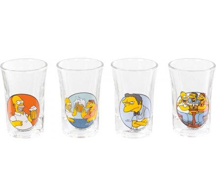Set 4 verres à liqueur Simpsons