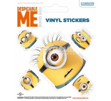 Pack de 5 Stickers Têtes Minions Moi Moche et Mechant