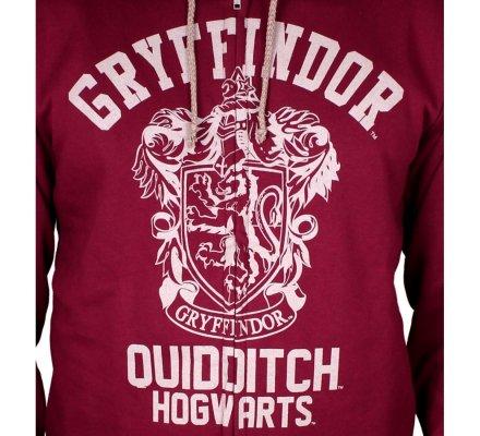 Sweat Harry Potter Gryffondor Quidditch rouge bordeaux capuche