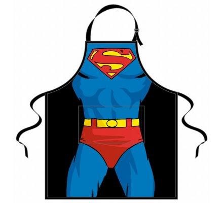 Tablier Bleu Corps Superman