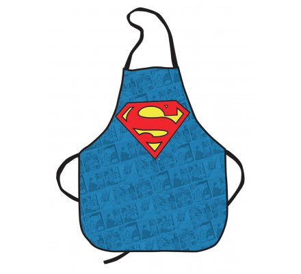 Tablier Bleu Logo Superman