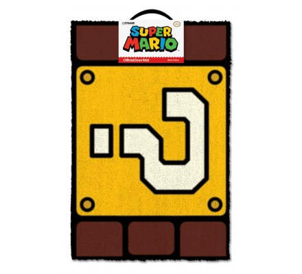 Tapis, Paillasson Question Block Super Mario Nintendo