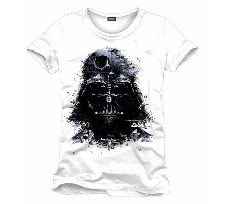 Tee-Shirt Blanc Dark Vador Recomposed Star Wars
