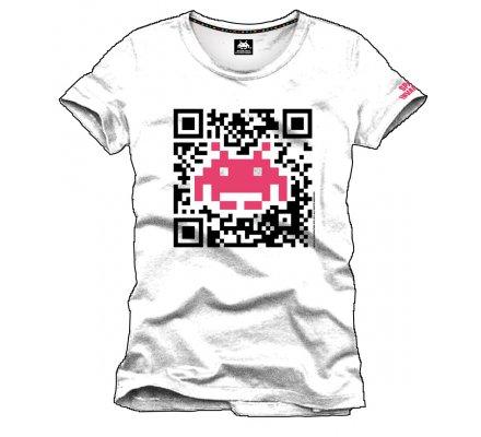 Tee-Shirt Blanc Flash Code Space Invaders