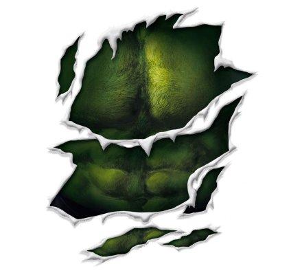 Tee-Shirt Blanc Hulk Vert Marvel