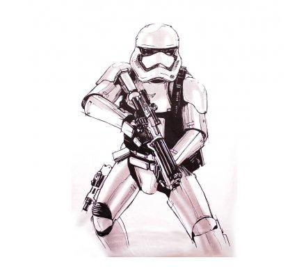 Tee-Shirt Blanc Stormtrooper Big Sketch Star Wars