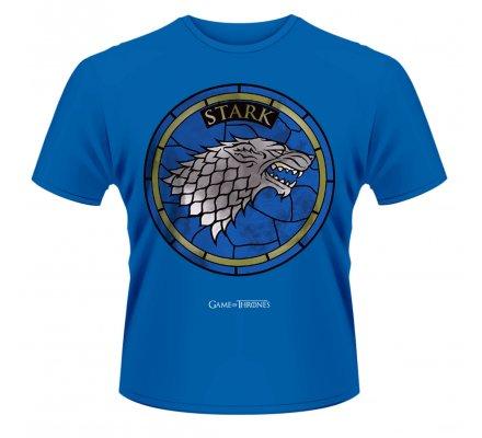 Tee-Shirt Bleu Vitrail Stark Game of Thrones