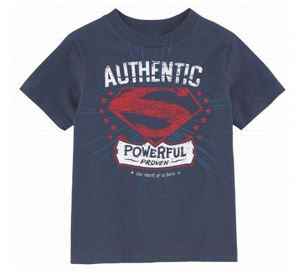 Tee Shirt Enfant Bleu Authentic Powerful Superman