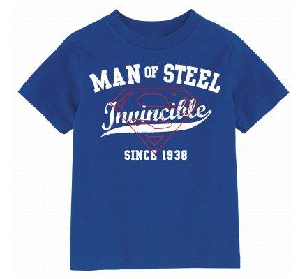 Tee Shirt Enfant Bleu Invincible Man Of Steel Superman