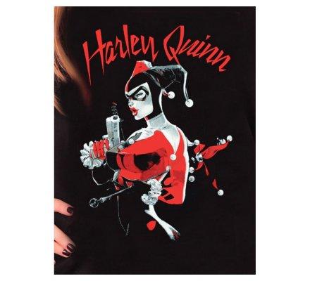 Tee Shirt Femme Noir Harley Quinn Batman