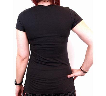 Tee-Shirt Femme Noir Logo Distres Star Wars