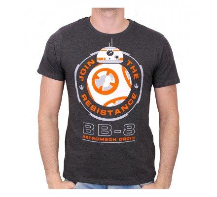 Tee-Shirt Gris BB8 Astromech Droid Star Wars