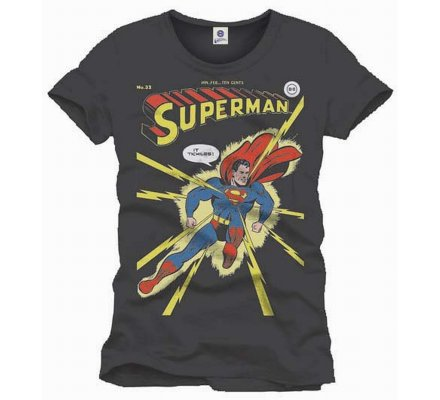 Tee-Shirt Gris Comics It Tickles Superman