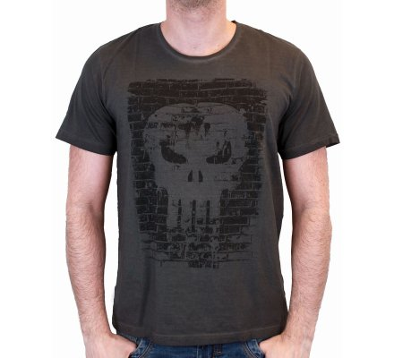 Tee-Shirt Gris Splashwall Punisher