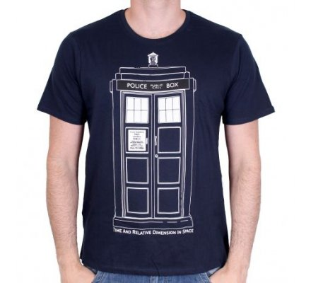Tee-Shirt Homme Tardis Draw Doctor Who