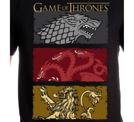 Tee-Shirt Houses of the King Game of Thrones