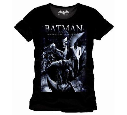 Tee-Shirt Noir Arkham Origins Poster Batman