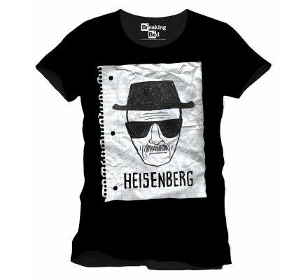 Tee-Shirt Noir Heisenberg Notebook Breaking Bad