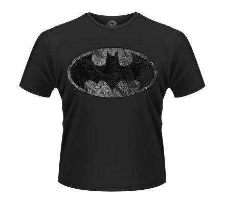 Tee-Shirt Noir Logo Vintage Argent Batman