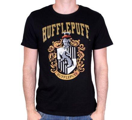 Tee-Shirt Noir Poufsouffle Harry Potter