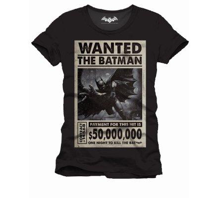 Tee-Shirt Noir The Batman Wanted One Night Batman