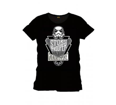 Tee-Shirt Noir Trooper Galactic Empire Star Wars