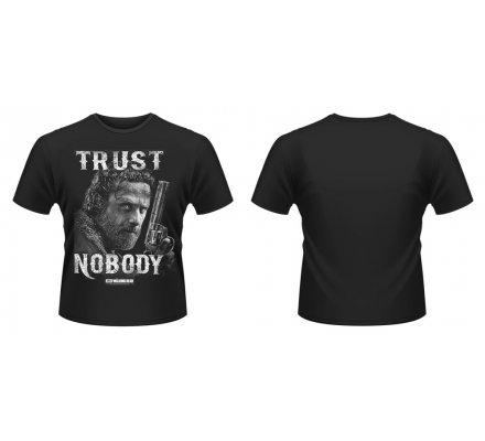 Tee-Shirt Noir Trust Nobody The Walking Dead