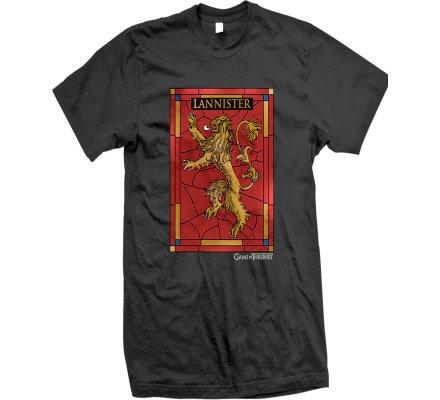 Tee-Shirt Noir Vitrail Lannister Game of Thrones