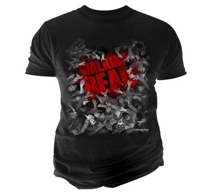 Tee-Shirt Noir Walker Hoarde The Walking Dead