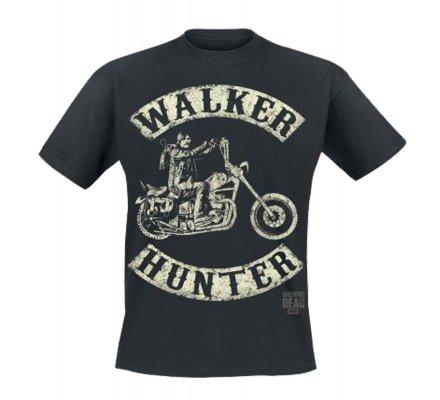 Tee-Shirt Noir Walker Hunter The Walking Dead