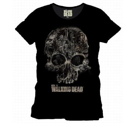 Tee-Shirt Noir Walker Skull The Walking Dead