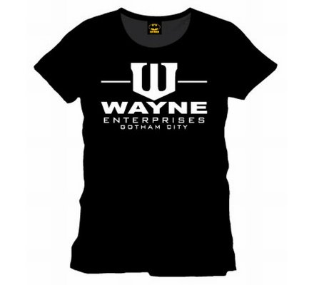 Tee Shirt Noir Wayne Enterprises Batman