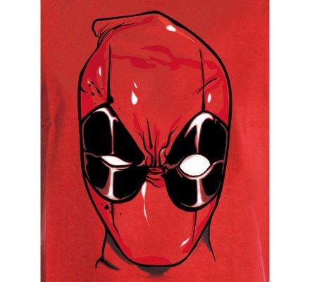 Tee-Shirt Rouge Head Deadpool