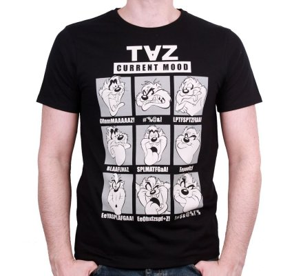 Tee-Shirt Taz Mood Looney Tunes
