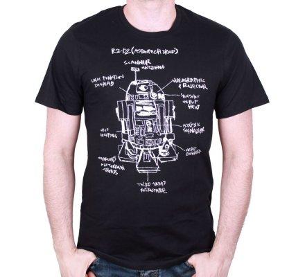 Tee-Shirt R2D2 croquis systeme Star Wars
