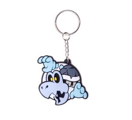 Porte-clés caoutchouc Mario Dry Bones 6 cm Nintendo