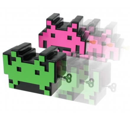 Figurines à remontoir Space Invaders
